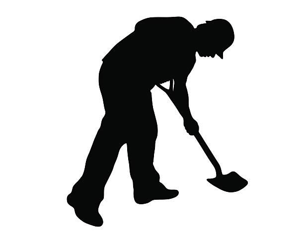 Royalty Free Man Digging Clip Art, Vector Images ...