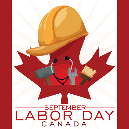 Workers Equipment To Celebrate Canadian Labor Day Stock Illustration Download Image Now Istock