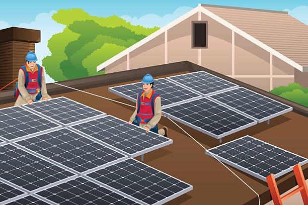 Top 60 Solar Panel Installation Clip Art Vector Graphics