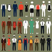 workers, profession people uniform,