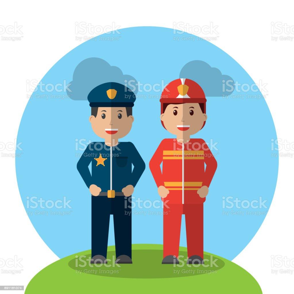 Dibujos Para Colorear De Bomberos Y Policias Djdarevecom