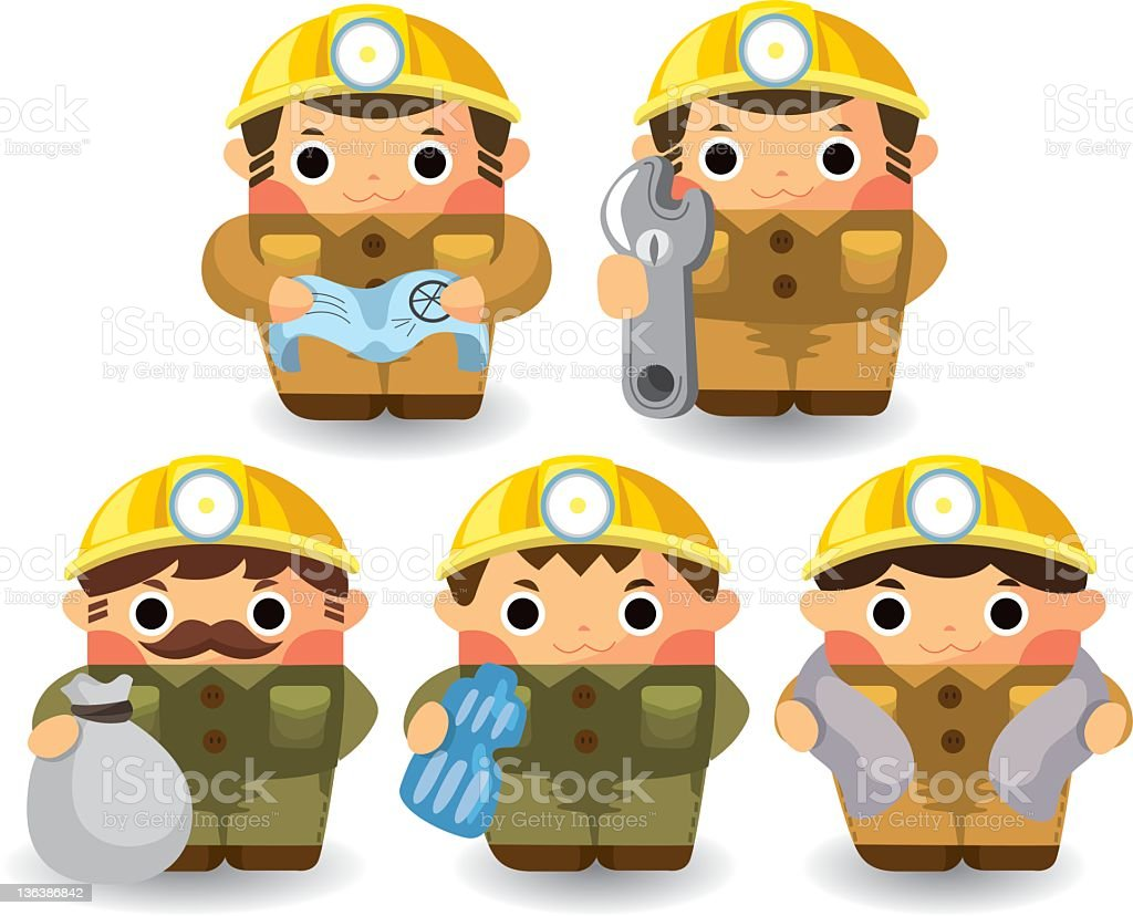 workers vector art illustration