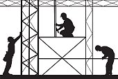 illustration of workers on scaffold