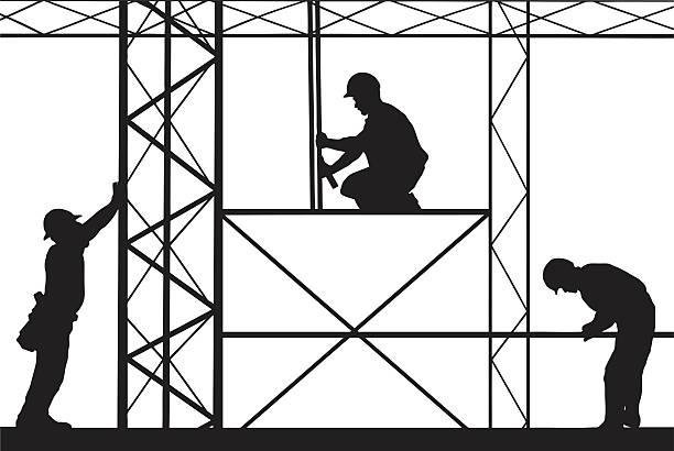 arbeitnehmer - bauarbeiter stock-grafiken, -clipart, -cartoons und -symbole