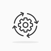 istock Workflow icon in line style. 1152436659