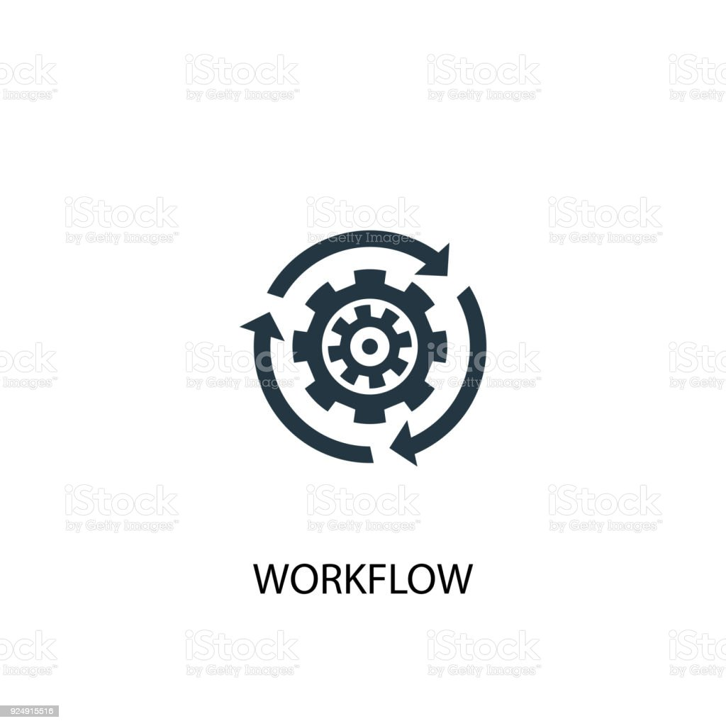 Workflow icon. Simple element illustration vector art illustration
