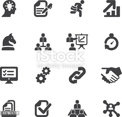 Workflow Silhouette icons