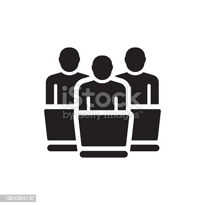 Workgroup Icon, Vector Symbol Illustration.