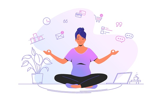 Working and meditating at home