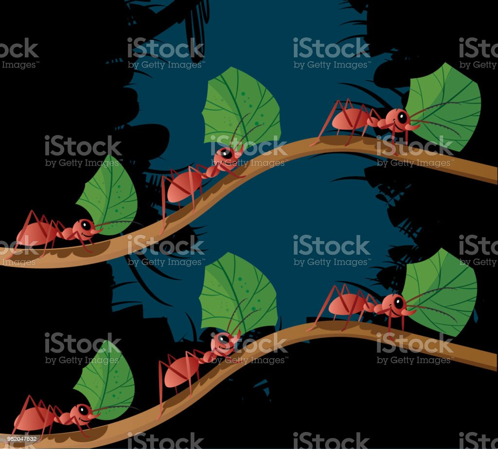 Working Ant vector art illustration