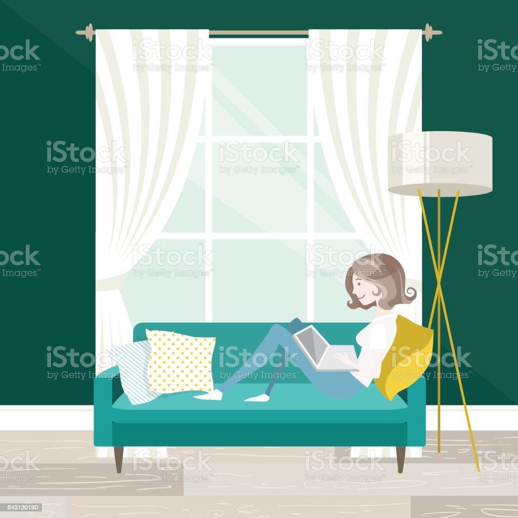 Travail à domicile  - Illustration vectorielle