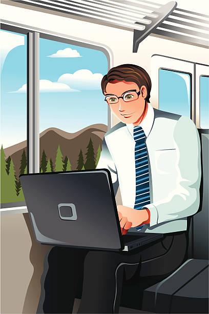 動作のビジネスマン - 出張点のイラスト素材/クリップアート素材/マンガ素材/アイコン素材