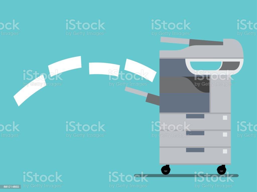working copier printer ,Vector illustration