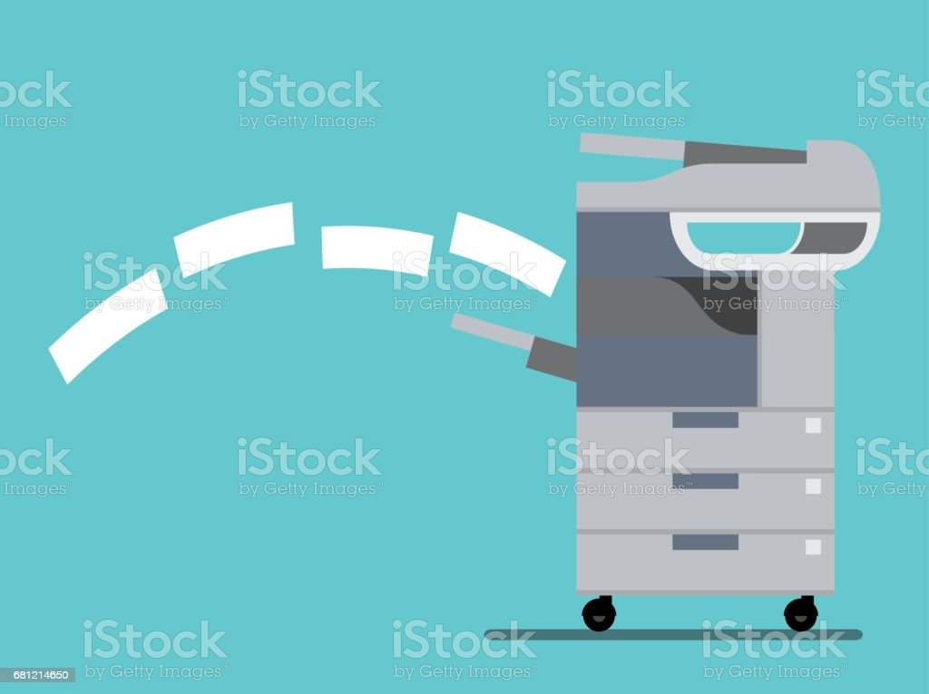 working copier printer ,Vector illustration vector art illustration