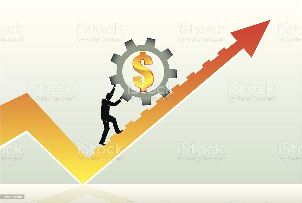 Working Financial Success royalty-free stock vector art