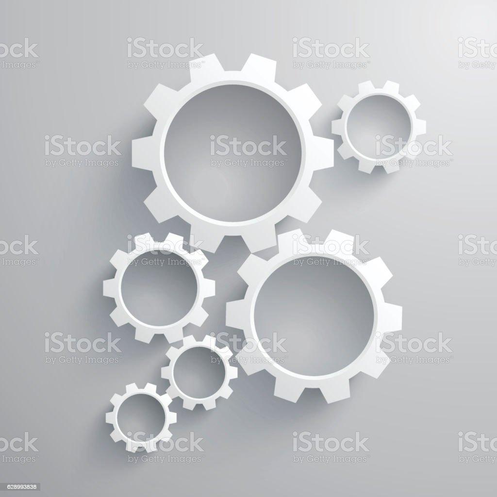 Working Gear vector art illustration