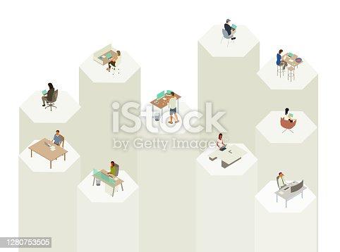 istock Working in Silos Illustration 1280753505