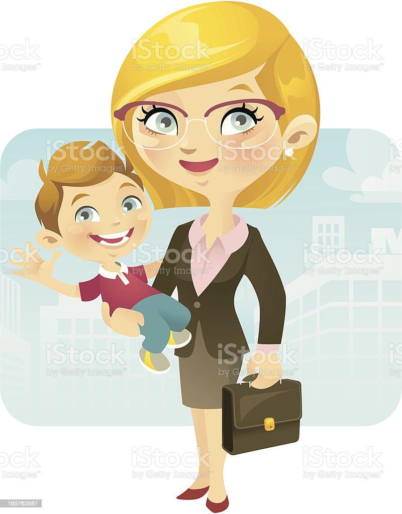 Maman de travail - Illustration vectorielle