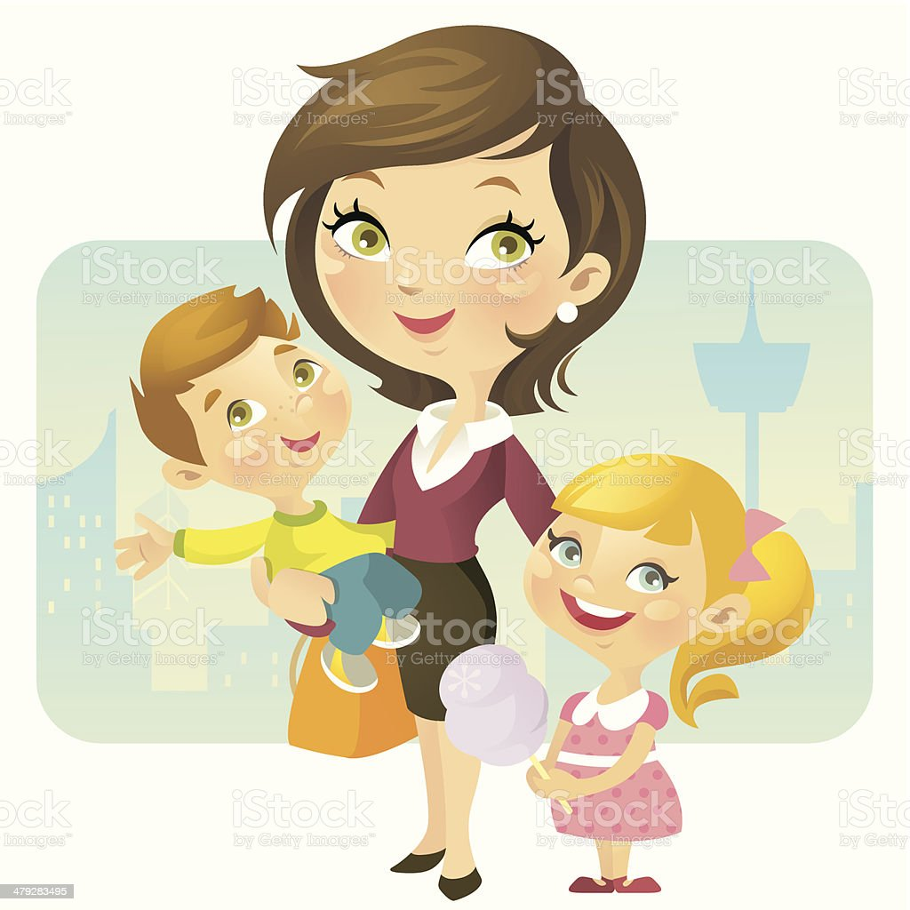 Working Mother royalty-free stock vector art