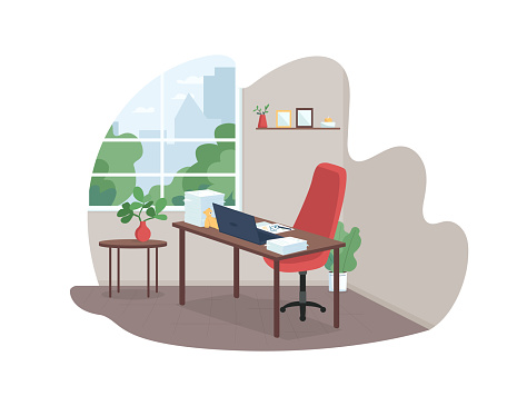 Working mother workplace 2D vector web banner, poster