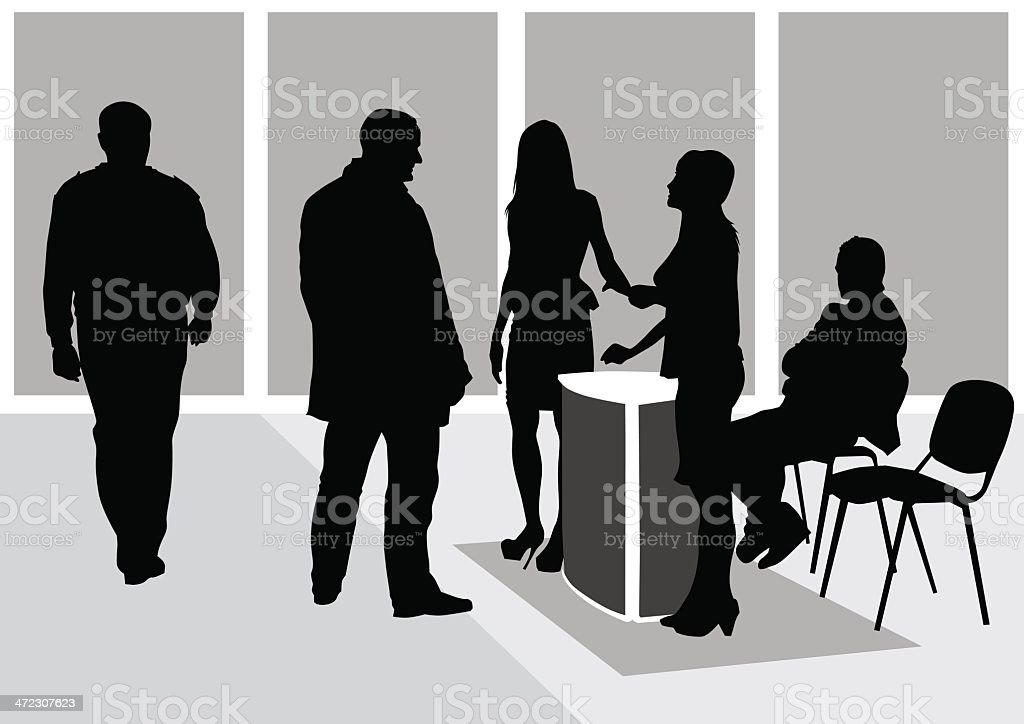 Working office royalty-free stock vector art