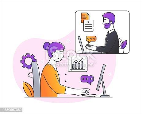 istock Working online concept 1330567360