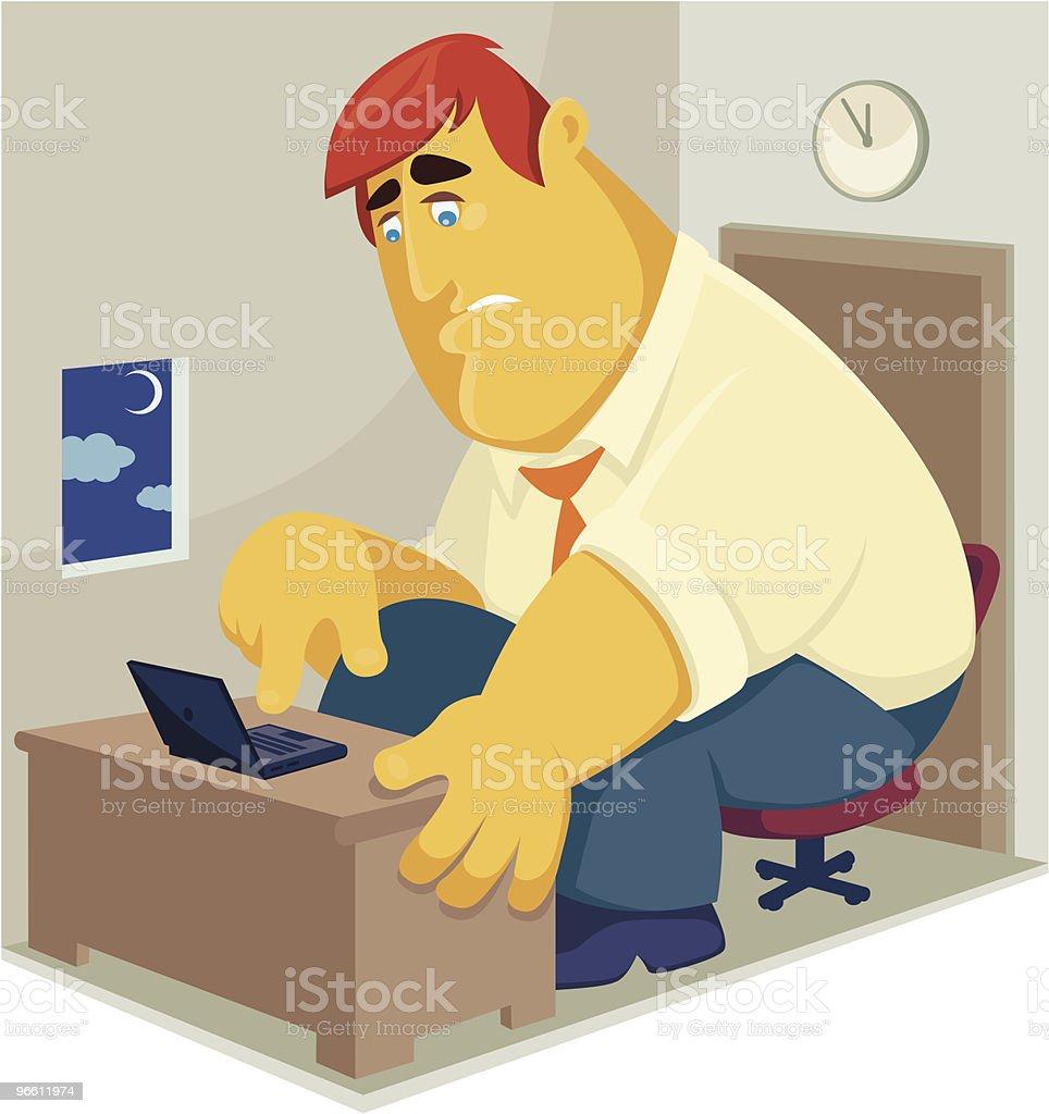 working overtime - Royaltyfri Affärsman vektorgrafik