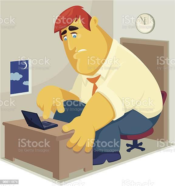 Working Overtime-vektorgrafik och fler bilder på Affärsman