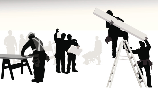 Working People Vector Silhouette
