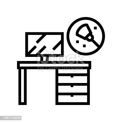 istock working place table cleaning line icon vector illustration 1297176328