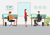 istock Working with Mask at the office 1246259745