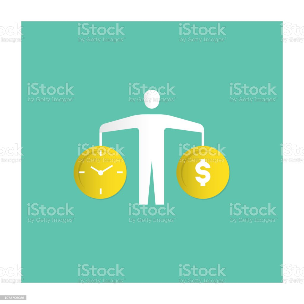 Work-Life Balance Icon vector art illustration