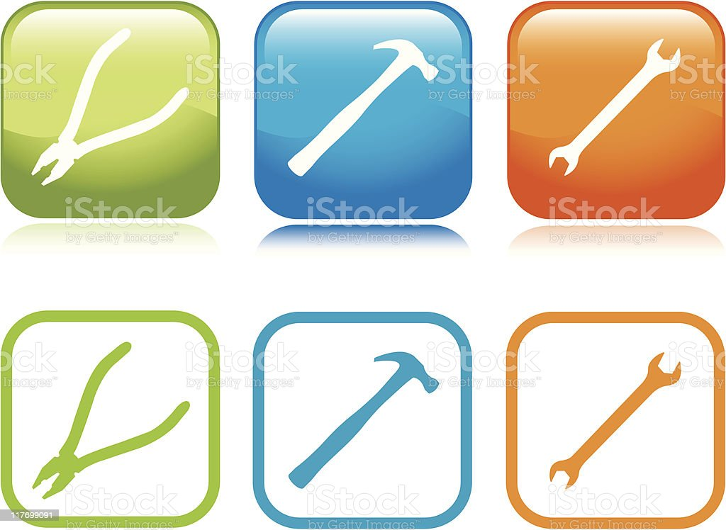 Workman Tools Icons royalty-free stock vector art