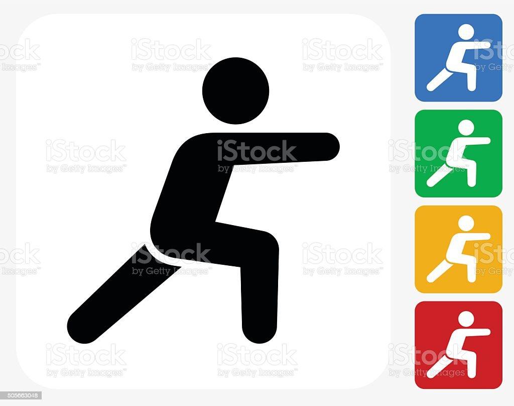 Workout Symbol flache Grafik Design – Vektorgrafik