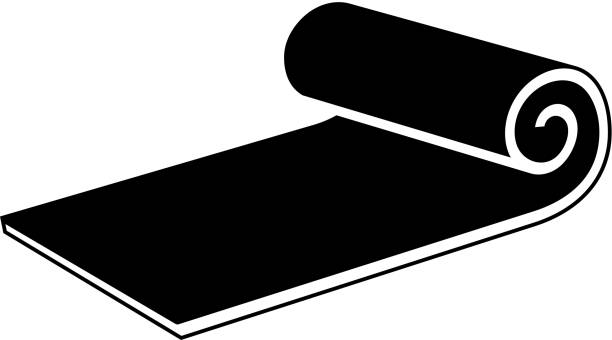Training Mat Symbol mit langen Schatten – Vektorgrafik