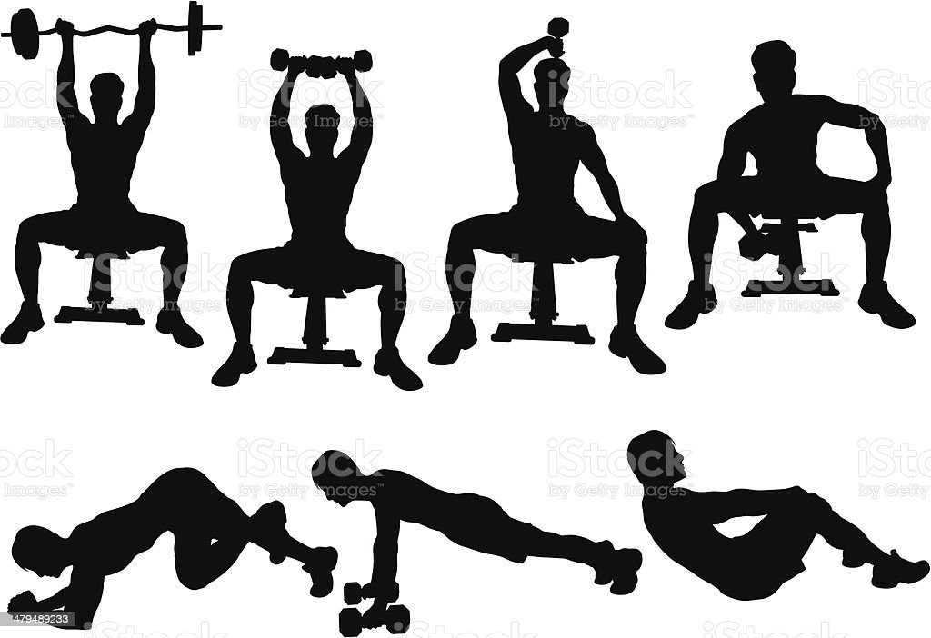 Workout Silhouette royalty-free workout silhouette stock vector art & more images of adult