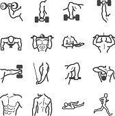 Workouts icon set
