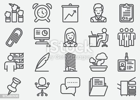 Workplace and Office Line Icons