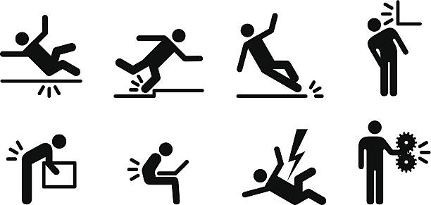 Workplace Hazards vector art illustration