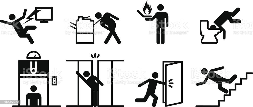 Workplace Hazards vector art illustration
