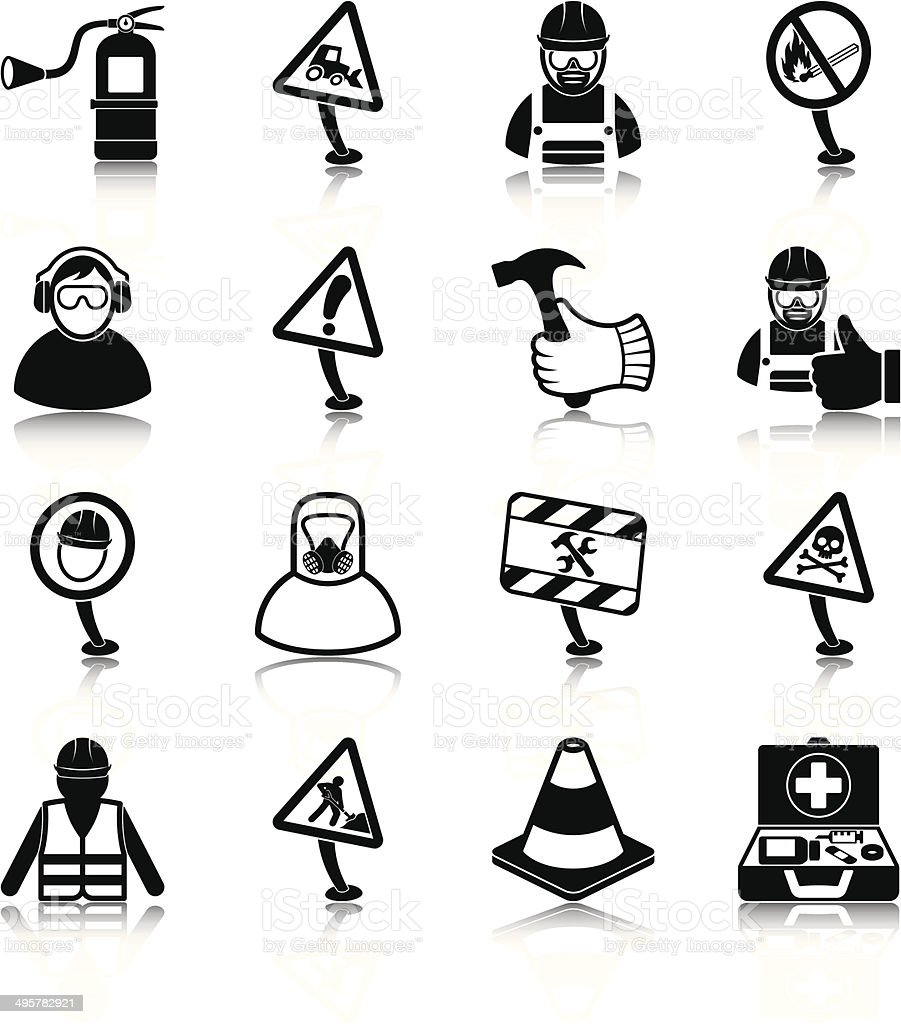 Workplace health and safety vector art illustration