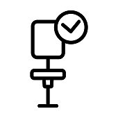 Workplace icon vector. Thin line sign. Isolated contour symbol illustration