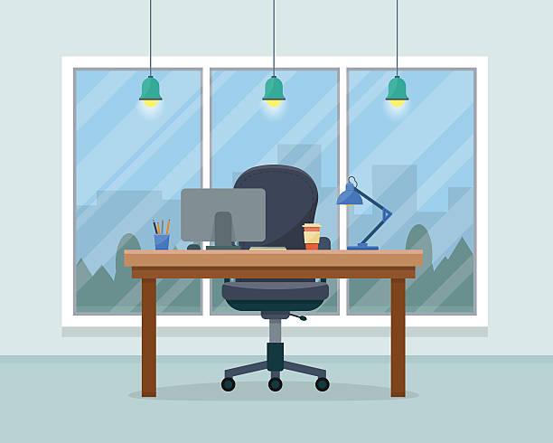 ilustrações, clipart, desenhos animados e ícones de local de trabalho de escritório - carteira