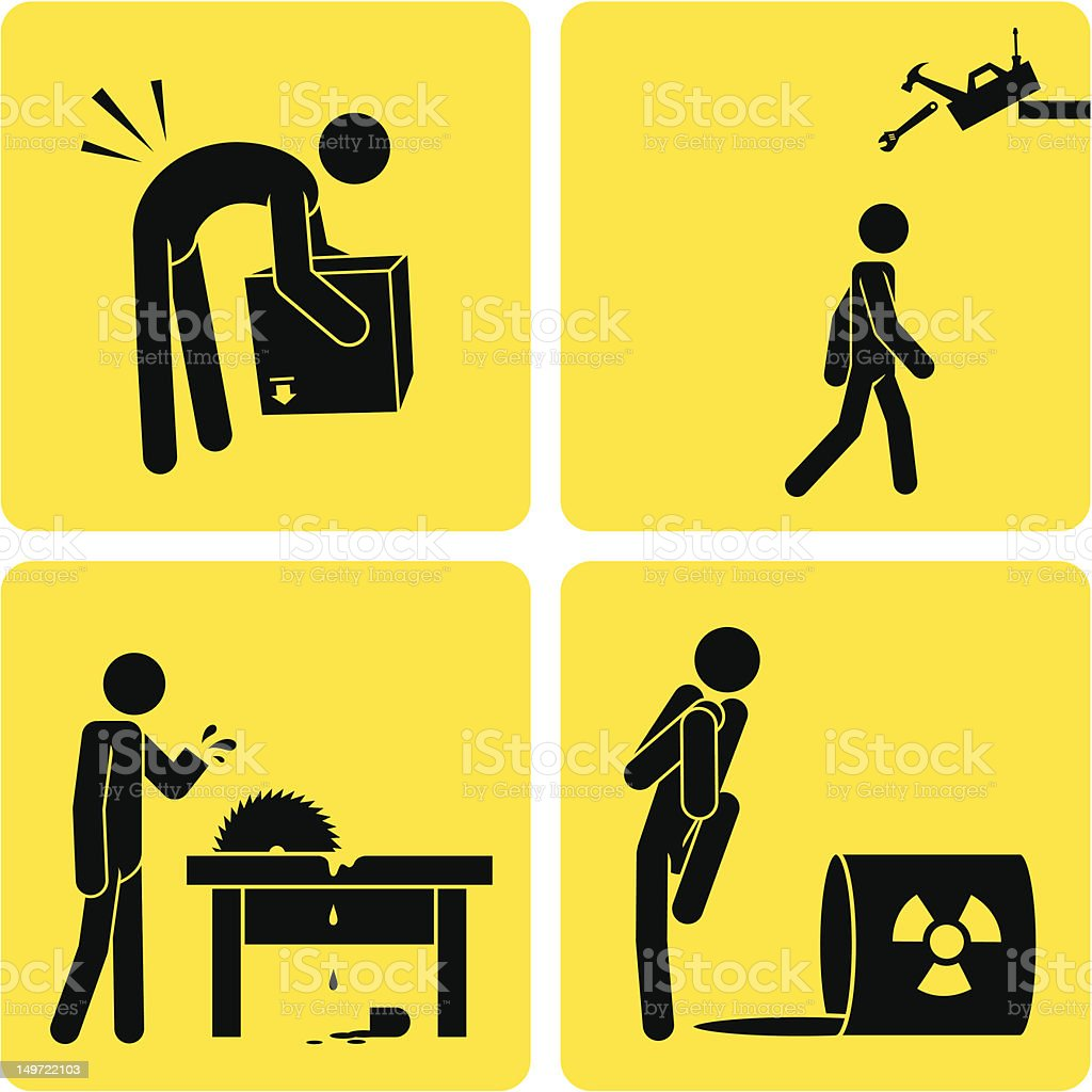 Workplace Mishaps vector art illustration