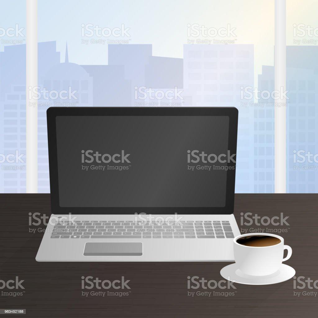 Workplace of office worker, designer - Grafika wektorowa royalty-free (Białe tło)