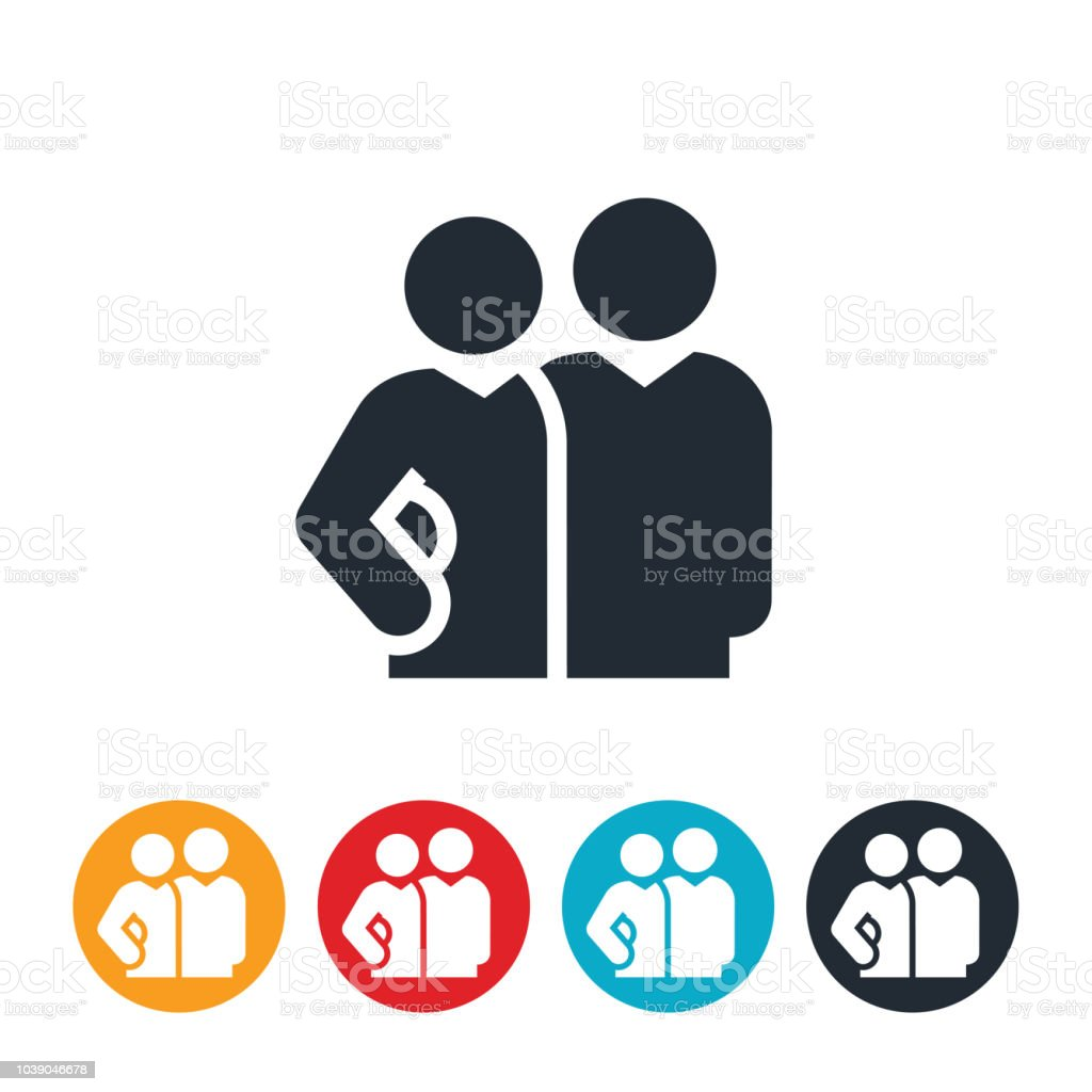 Workplace Relationship Icon vector art illustration