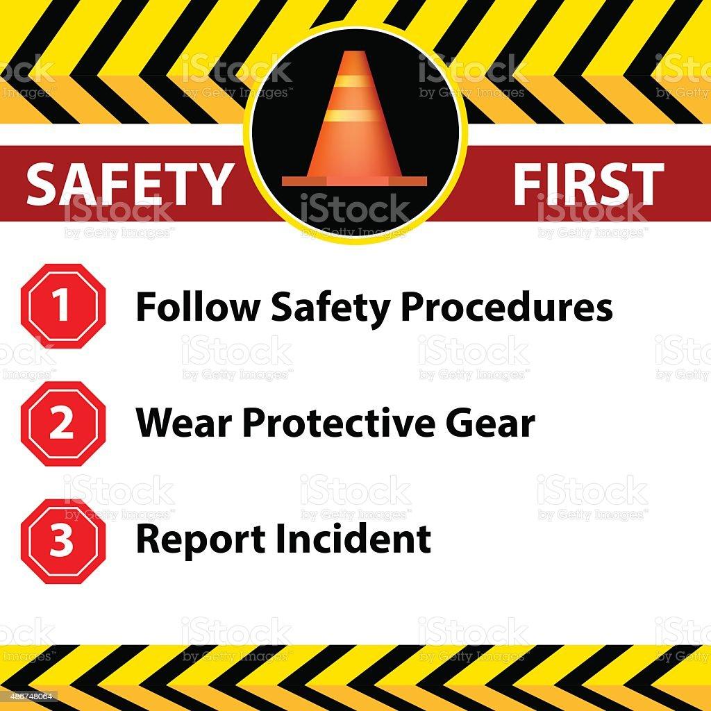 Sicherheit am Arbeitsplatz und-Schild-Symbol – Vektorgrafik