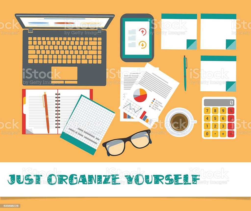 Workplace set vector office stuff, eps 10 on layers royalty-free workplace set vector office stuff eps 10 on layers stock vector art & more images of arranging