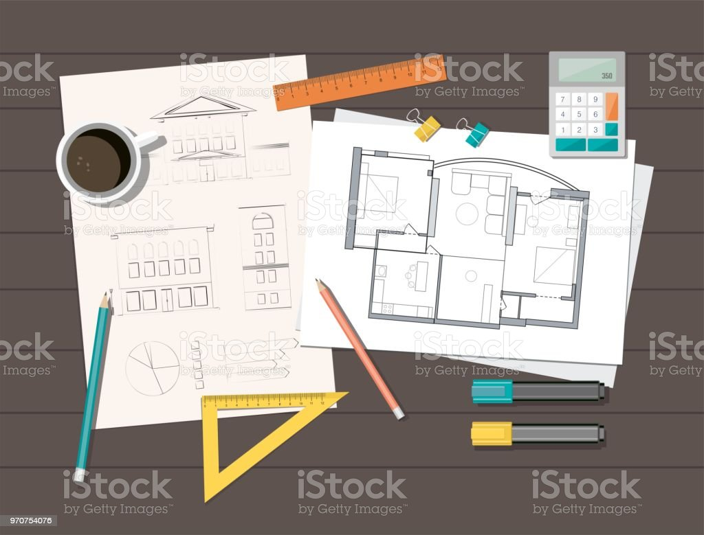 Workplace technical project architect house plan blueprint workplace technical project architect house plan blueprint construction background royalty free workplace malvernweather Choice Image