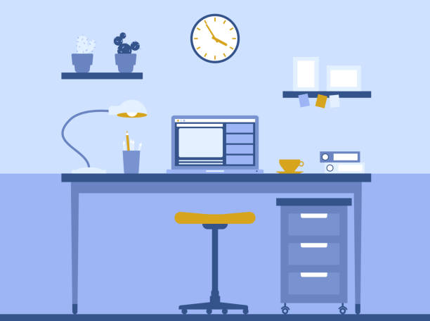 workplace - e-learning not icons stock illustrations